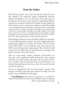 Prostate Recovery MAP Author Intro